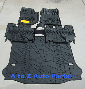 2014 2018 Jeep Wrangler Jk 4 door Slush Style Floor Mats Cargo Mat Combo Set