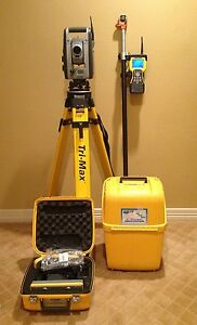 Trimble S8 1 High Precision Robotic Total Station With Tsc2 W radio Calibrated