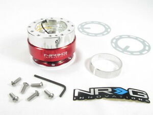 Nrg Steering Wheel Quick Release Kit Gen 1 0 Silver Body W Red Ring Srk 100r