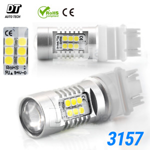 3157 Projector Led White Daytime Running Lights Bulbs 50w 3535 Chip 1300lm