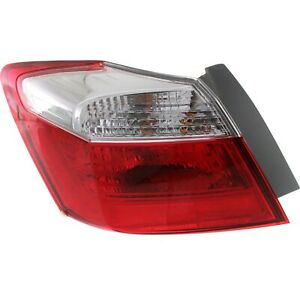 Tail Light For 2013 2015 Honda Accord Lh Outer Sedan Ex Lx Sport Models