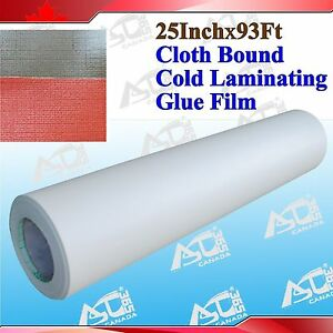 Cloth Bound Adhesive Glue 0 69x31yard 3mil Effect Cold Laminating Free Shipping