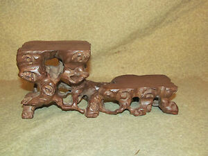 Old Or Antique Chinese Carved Wood Stand Jichimu