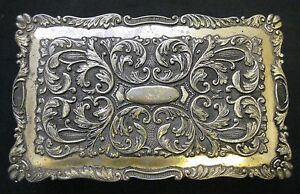 Antique Chinese Jewelry Bronze Box Gilt Silver Early 20th Century