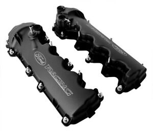 2005 2010 Ford Mustang Gt 4 6 3v Black Ford Racing Cam Valve Covers Pair