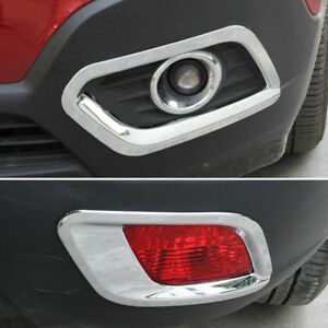 For Buick Encore Opel Vauxhall Mokka 13 Chrome Front Rear Fog Light Cover Trim