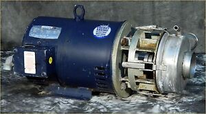 Leeson 7 5hp G131250 00 Electric Motor Stainless Impeller Pump 208 230 460 3ph