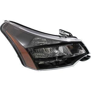 Headlight For 2009 2010 2011 Ford Focus Right Black Housing With Bulb