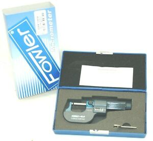 Fowler 52 244 625 E z Read Single Ball Micrometer 0 25mm