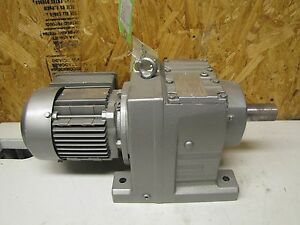 Sew eurodrive Electric Gearmotor R67 Dt71d6 3 Ph 158 14 1 Ratio 0 34 Hp New