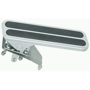 Racing Power R8504 Chrome Aluminum Gas Pedal With 2 Rubber Inserts Floor Mount