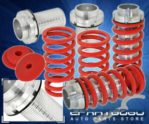 88 91 Honda Civic Crx S Si Ef Hatch Red Spring Adjustable Coilover Scale Sleeves