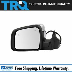 Mirror Power Heated Signal Blind Spot Chrome Driver Lh For 11 13 Grand Cherokee