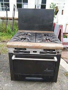 Used Garland 4 Burner Commercial Hotel Range