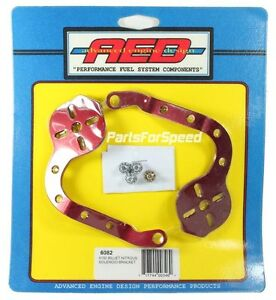 Aed 6082 Holley Billet Nitrous Solenoid Bracket Pair Red