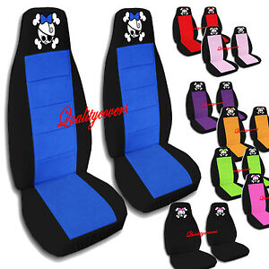 2 Front Girly Skull Seat Covers 2005 2008 Ford Escape Airbag Friendly