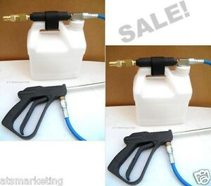 Carpet Cleaning Inline Injection Sprayer set Of 2 High Pressure Hose