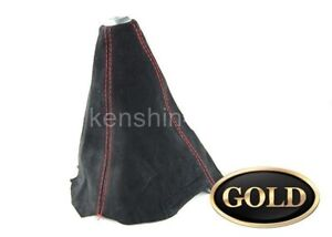 Red Stitch Black Suede Shift Boot For M T Manual Shift Gear Cover Shifter