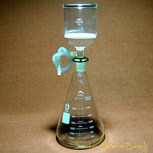 2000ml glass Suction Filtration Kit 500ml Buchner Funnel 2l Erlenmeyer Flask