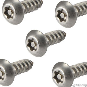 14 X 1 1 2 Security Screws Torx Button Head Sheet Metal Stainless Steel Qty 10