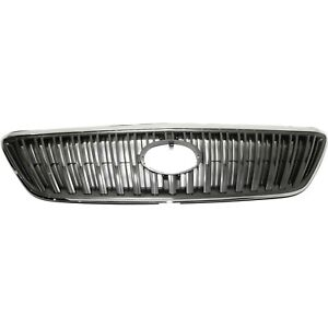 Grille For 2004 2006 Lexus Rx330 2007 2009 Rx350 Chrome Shell W Gray Insert