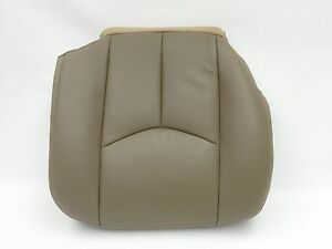 03 06 Chevy Avalanche Silverado Leather Passenger Seat Cover Medium Neutral Tan