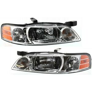 Headlight Set For 2000 2001 Nissan Altima Left And Right With Bulb 2pc