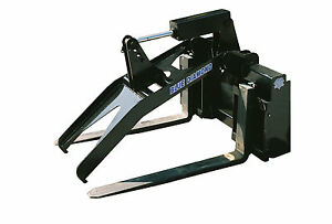 Blue Diamond Grapple Fork Frame With 36 Tines For Mini Skid Steer Attachment