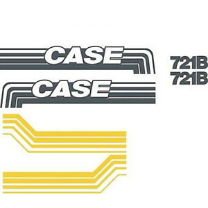 New Case Wheel Loader 721b Decal Set