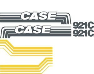 New Case Wheel Loader 921c Decal Set