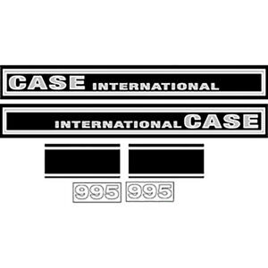 Hc995 Case International Tractor Hood Decal Set 995