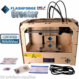 Flashforge Usa 3d Model Printer With Dual Abs pla Spool Filament Extruder Noozle
