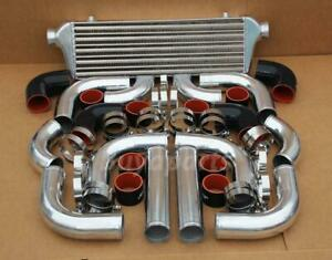 2 5 Chrome Piping intercooler Kit black Coupler Clamp Turbocharger Supercharger