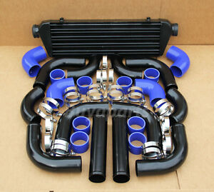 12x 2 5 Blue Coupler Black Piping Intercooler Kit Acura Integra Rsx Tsx Nsx