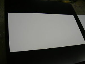 White Polystyrene Thermoforming Plastic Sheets 030 X 12 X 48