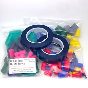 182 Piece High Temp Silicone Powder Coating Kit Silicone Rubber Plugs Caps Tape