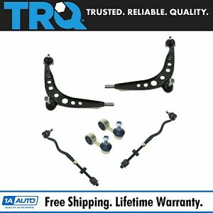 Control Arms Ball Joints Tie Rods Sway Bar Links Suspension Kit Front For Bmw