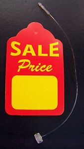 200 Merchandise Strung Price Sale Display Tags 1 5 8 X 2 3 4 Free Fasteners