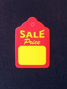 200 Merchandise Unstrung Price Sale Scallop Display Tags 1 1 4 X 1 7 8