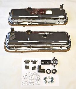 65 72 Chevrolet Chrome Valve Covers Bbc 396 427 454 Drippers Kit 41 Piece Kit