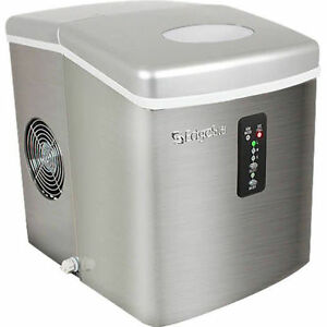 Edgestar Stainless Steel Portable Ice Maker Mini Countertop Ice Cube Machine