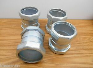Lot Of 4 Madison Electric 3 Emt rigid imc Compression Coupling