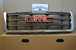 2007 2012 Gmc Sierra 1500 Front Chrome Grille With Emblem New Oem 22761792