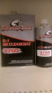 Refinish Mate High Solids 2 1 Clear W Activator Automotive Grade Clear Coat