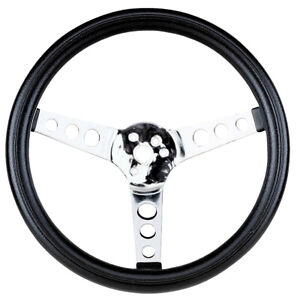 Empi Steering Wheel Chrome 3 Spoke 13 1 2 Dia 3 1 2 Dish Vw Bug Baja Buggy