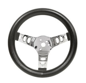 Empi Steering Wheel Chrome 3 Spoke 10 Dia 5 1 2 Dish Vw Bug Baja Buggy