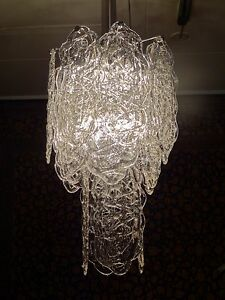 Mazzega Murano Glass Vintage Chandelier Ceiling Light Hanging Lamp