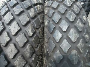 Two 13 6x28 6 Ply R3 John Deere Tubeless Farm Tractor Turf Tires
