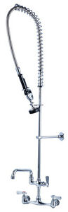 Heavy Duty Commercial Pre rince Spray Faucet 8 Oc With 12 Add on Spout