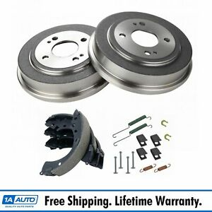 Rear Brake Shoes 2 Drums Hardware Spring Kit Set For Honda Civic Fit
